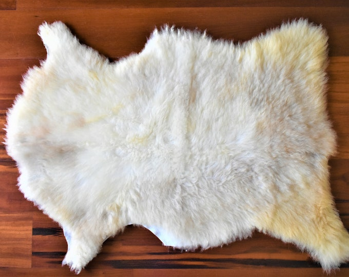 Beige Sheepskin Rug, Ethically Sourced, Genuine Handmade