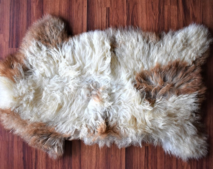 Genuine Sheepskin Rug Icelandic Sheepskin Fur Rug Natural Rug Baby Floor Hide Rug Genuine Sheep Skin Kids Scandinavian Rug Pelt Area Rug