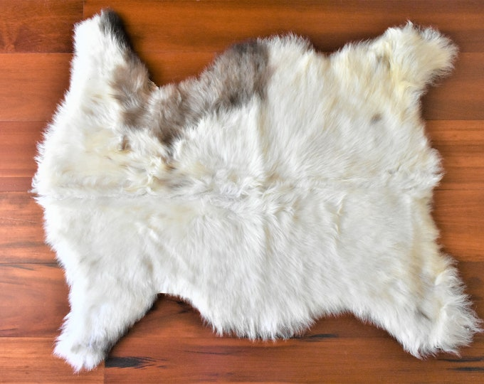 Sheepskin Throw, Elegant Scandinavian Rug, Gift
