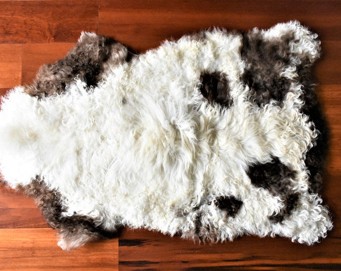 BESTSELLER Beautiful Cream Brown  Genuine SHEEPSKIN rug | Natural Humanely Sourced |  Scandinavian Style Rustic Home Decor