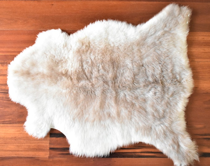 Real Icelandic Genuine Sheepskin Rug White Brown Fur