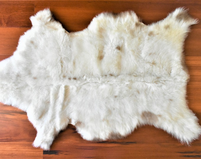 Sheepskin Rug, Zero Waste Gift, Sheepskin Rug, Sheepskin Throw,  Cream Soft Wool
