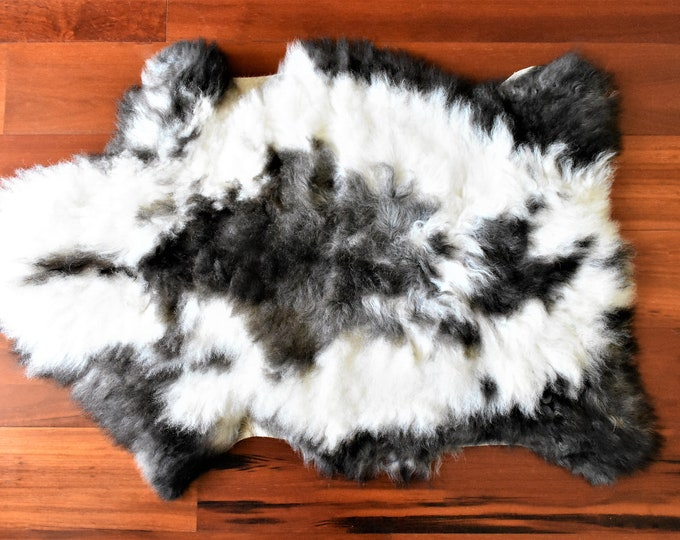Sheepskin Rug, Sheepskin Chair Pad White Brown, Calming Meditation Mat