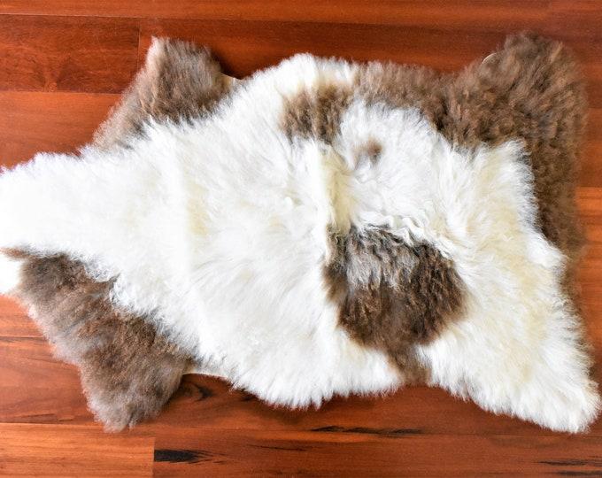 Beige Brown Sheepskin Rug, Throw Genuine Sheepskin Rugs Sheep Skin Cheap Rugs, Discount Rugs, Shaggy Rug, Scandinavian Style