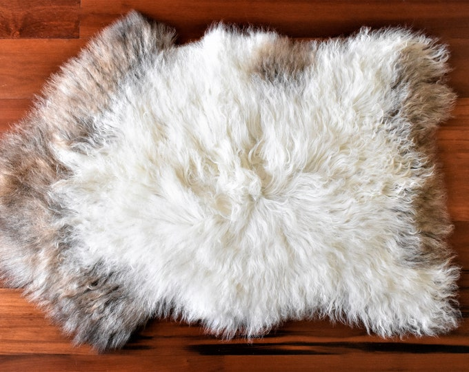 Sheepskin Pelt, Ethically Sourced in Europe, White Brown