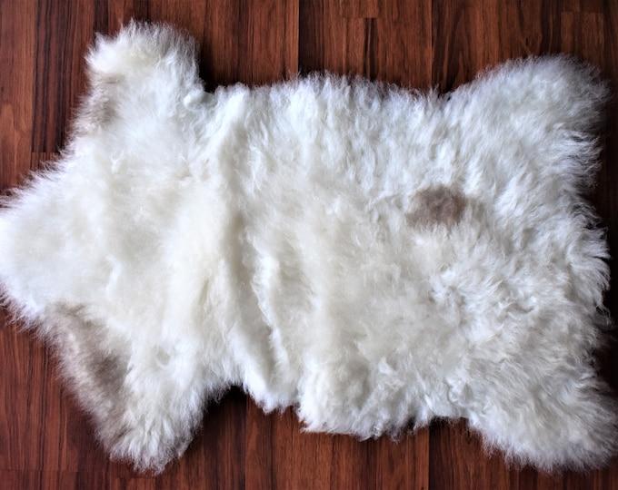 Genuine Sheepskin Rug | Natural Sheepskin Carpet| Birthday Gift Throw Rug| Gift For Her Fur Rug| Gift For Him Original Sheepskin Rug