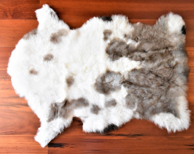 Cream Brown Sheepskin Rug, Ethically Sourced, Genuine Handmade