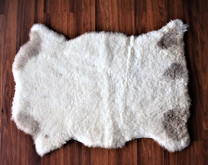 Genuine Sheepskin Rug | Natural Sheepskin Carpet| Birthday Gift Throw Rug| Gift For Her Fur Rug| Gift For Him Original Sheepskin Rug