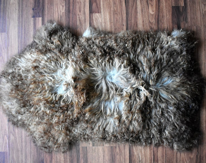 BESTSELLER Beautiful Brown Genuine SHEEPSKIN rug | Natural Humanely Sourced | Brown Sheepskin Throw | Scandinavian Style Rustic Home Decor