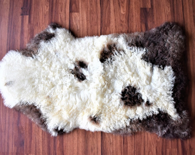Natural Brown Sheepskin Carpet| Genuine Sheepskin Rugs | Birthday Gift Throw Rug| Gift For Her Fur Rug| Gift For Him Handmade Sheepskin Rug