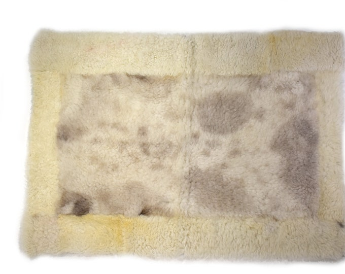 Natural Sheepskin Pelt, Pet Furniture, Large Dog Bed, Dog Place Mat, Cat Play Mat
