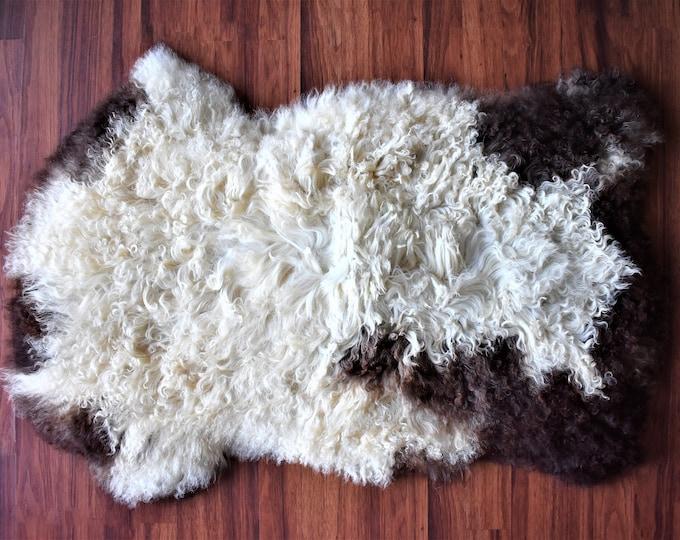Genuine Sheepskin Rug Icelandic Sheepskin Fur Rug Natural Rug Baby Floor Hide Rug Genuine Sheep Skin Kids Scandinavian Rug Pelt Area Rug