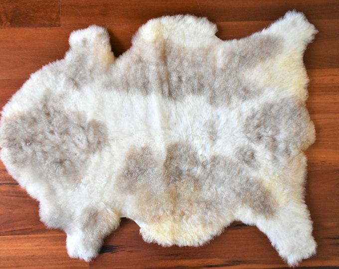 Real Icelandic Genuine Sheepskin Rug Cream Brown  Fur