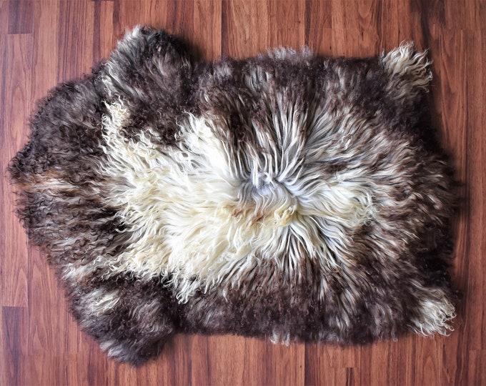 Big Brown Rug Sheepskin Rug Sheepskin Throw Genuine Sheepskin Cheap Rugs Super Soft Long Fur Shag Rugs, Pelt, Throw Rugs, Scandinavian Style