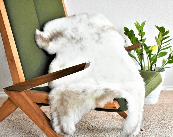 Sheepskin Rug, Sheepskin Chair Pad, Sheepskin Chair Cover, Sheepskin Cushion, Swedish Rug, Swedish Farmhouse