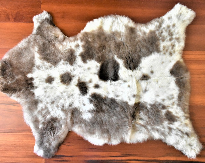 Real Icelandic Genuine Sheepskin Rug Brown Cream Fur