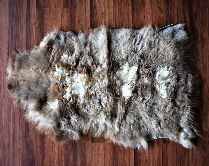Original, Natural  Brown Genuine Sheepskin Rug Shag Rug Natural Rug rug draped on chair bench cheap fur rug good gift