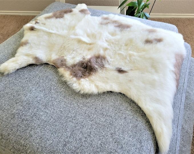Sheepskin Throw, Elegant Scandinavian Rug, Gift, 26 x 36 in.