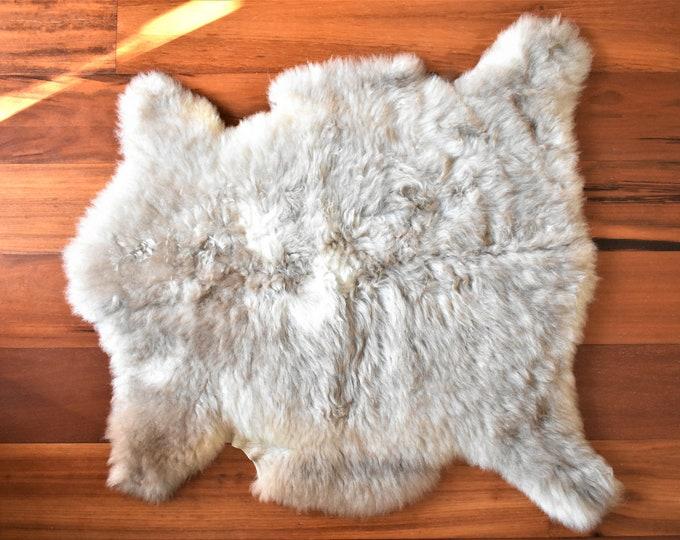Real Icelandic Genuine Sheepskin Rug Beige  Fur