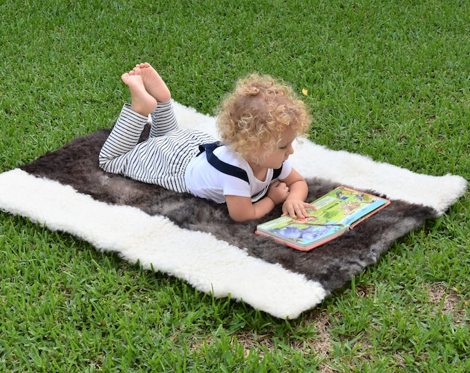 Toddler Play Mat, Sheepskin Baby Play Rug, Teepee Mat, Play Rug, Nursery Decor, Activity Mat, Montessori Mat, Montessori Furniture