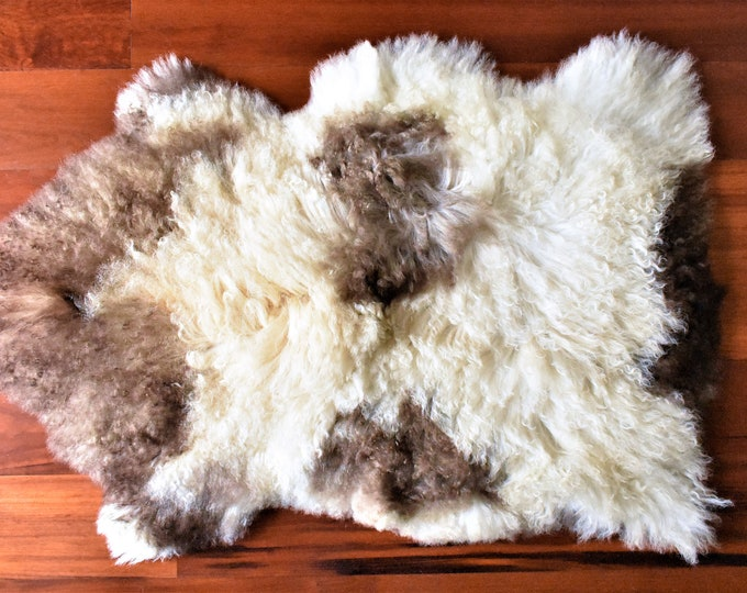 BESTSELLER Beautiful Beige Brown  Genuine SHEEPSKIN rug | Natural Humanely Sourced |  Scandinavian Style Rustic Home Decor