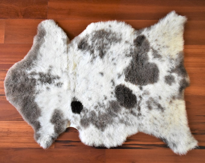 Brown Cream Sheepskin Rug, Throw Genuine Sheepskin Rugs Sheep Skin Cheap Rugs, Discount Rugs, Shaggy Rug, Scandinavian Style