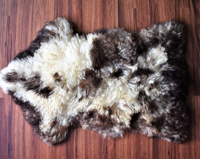 BESTSELLER Original Beige Brown Genuine Natural Sheepskin Rug Genuine Sheepskin Rugs, Large Sheepskin Dog Bed, Woolen Dog Bed Mat, Pet Dog