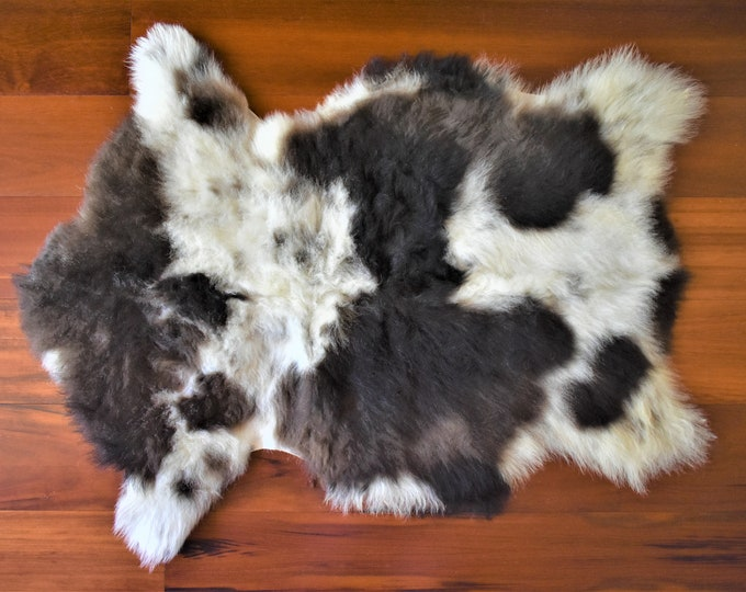 Sheepskin Rug, Genuine Cream Brown  Natural Rug, Pelt Giant Sheepskin Throw, Real Sheepskin Rug, Scandinavian Decor, Sofa Sheep Skin Rugs
