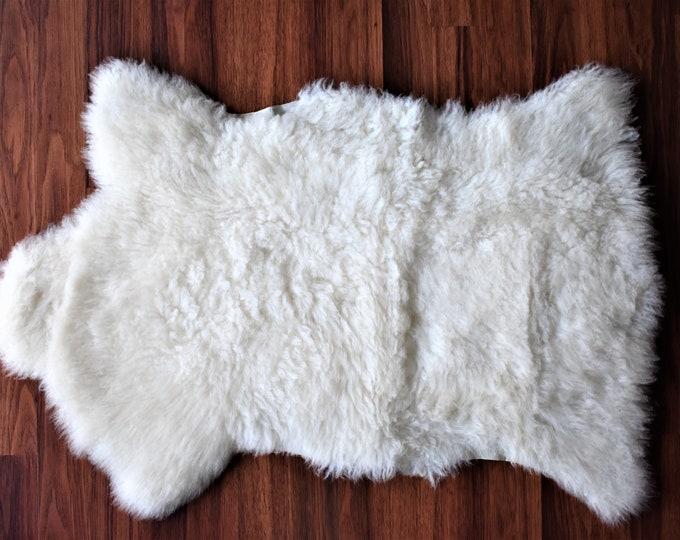 Genuine Sheepskin Rugs Natural White Sheepskin Rug, Pelt, Sheepskin Throw
