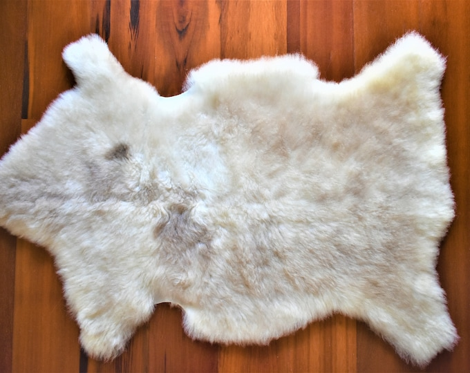 Sheepskin Rug,Beige Brown Throw, Genuine Leather, Sheep Skin, Decorative rug, Genuine Sheepskin Rugs, Comfy, Cozy, Natural