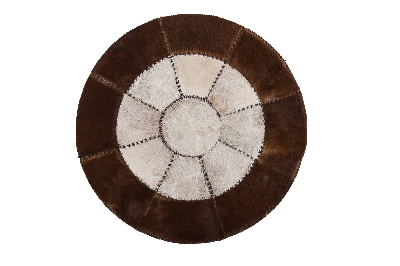 Original Scandinavian Design Cowhide Patchwork Rug Hair On Genuine