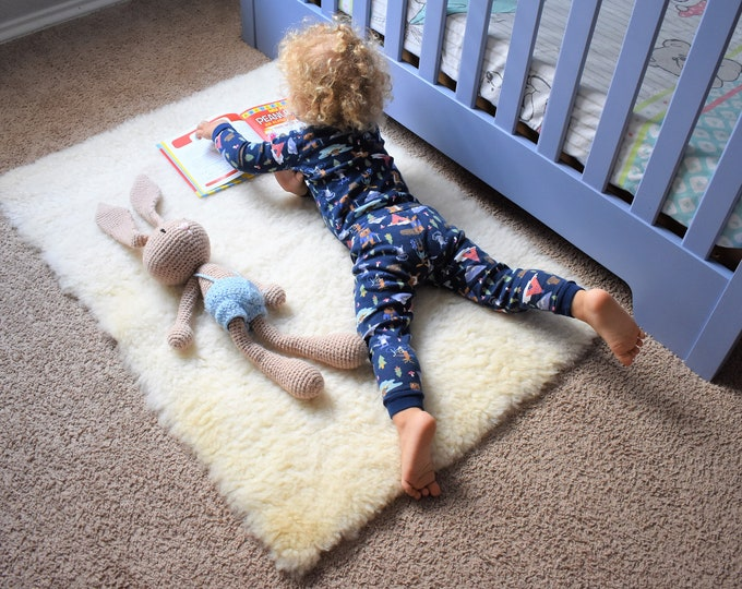 Toddler Play Mat, Sheepskin Baby Play Rug, Teepee Mat, Play Rug, Nursery Decor, Activity Mat, Montessori Mat, Montessori Furniture
