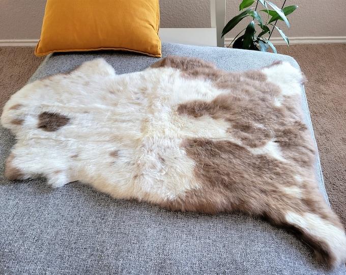 Original Natural Rug Beige Brown Genuine Sheepskin Rugs Natural Rug Throw Rugs Carpet Outdoor Rugs Cheap Rugs Shag Sheepskin rug, 26 x 35 in