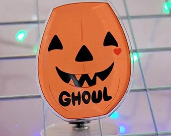 Ghoul Pumpkin Pail Pin