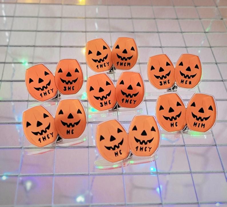 Pumpkin Pronoun Pin image 0