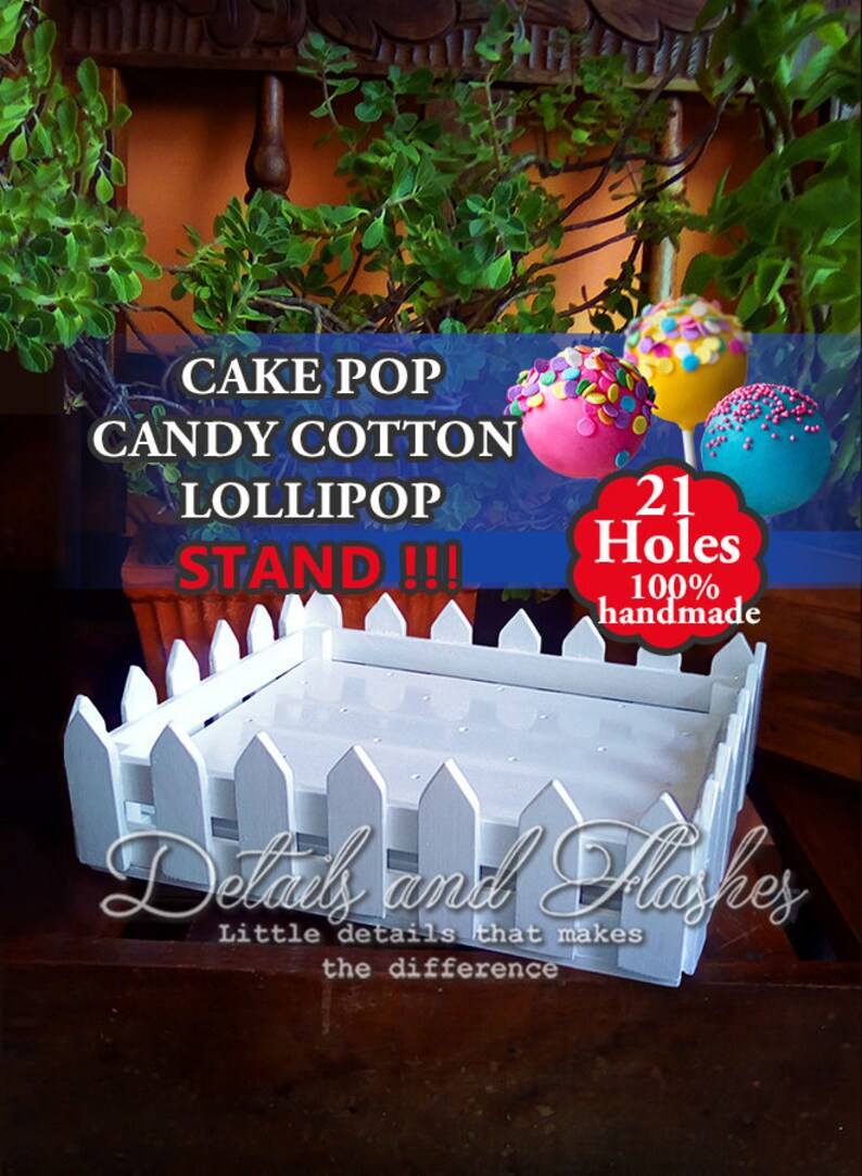 Cake Pop Stand Cake Pop Holder Cake Pop Display Cotton Etsy