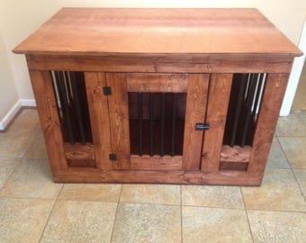 Nice Wooden Dog Crate End Table