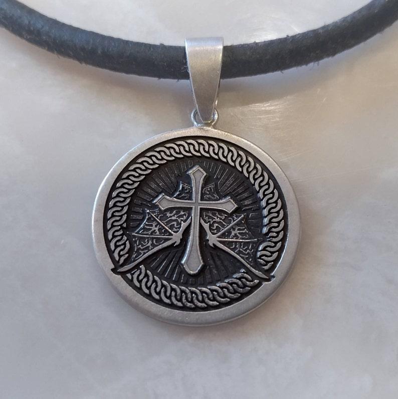 Castlevania Sorrow Cross Disc Pendant image 0