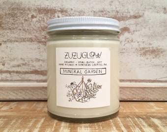 Mineral Garden 9 Oz Jar by ZuZuGlow candles