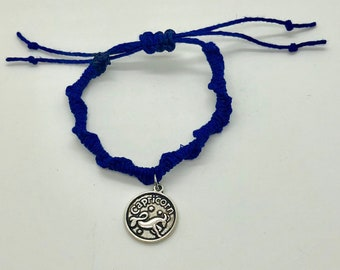 Bracelet, Zodiac Charm Bracelet, Astrology, Hemp, Size Adjustable, Jewelry