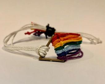 Rainbow Bracelet, Pink Floyd, Dark Side of the Moon, Gay Pride, LGBQT, Pride, Rainbow, 1