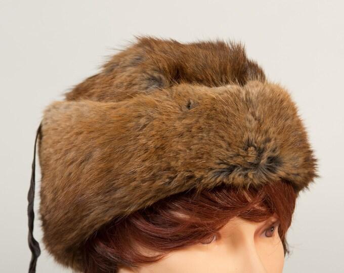Vintage Ladies Fur Hat - 1950's Canadian Fur Women's Hat - Fall Winter Party Hat
