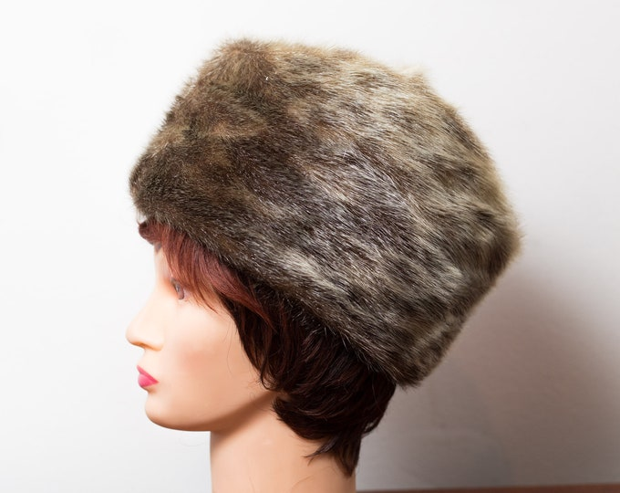 Vintage Ladies Fur Hat - 1950's Canadian Fur Women's Hat - Bell and Sons Fall Winter Party Hat