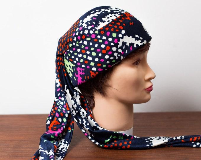 Vintage Ladies Summer Hat - Dark Blue Little Edie Grey Gardens Hat - Yacht Sailing Hat