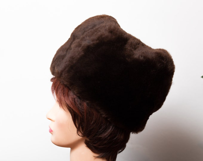 Vintage Ladies/Mens Fur Hat - 1950's Canadian Small Fur Women's Hat - Winter Party Hat - Made in Canada by Biltmore