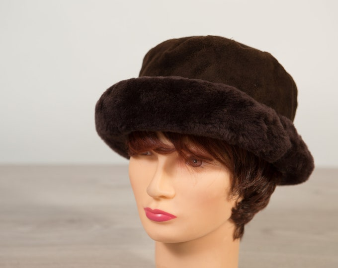 Vintage Ladies Faux Fur Hat - Retro Women's Hat - Winter Party Hat - Made in Italy Hat
