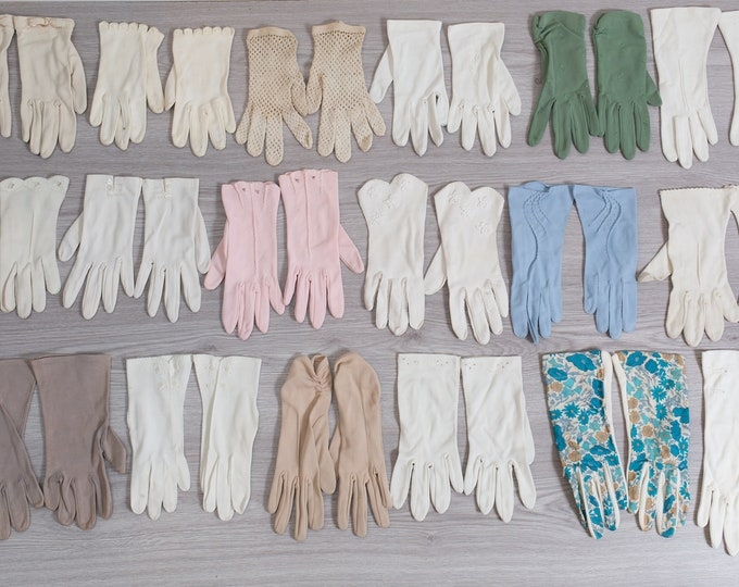 Vintage Gloves  - 10 Pairs of Evening Gloves / Formal Gloves / Costume Gloves / Ladies Gloves / Women's Gloves / Beaded Gloves