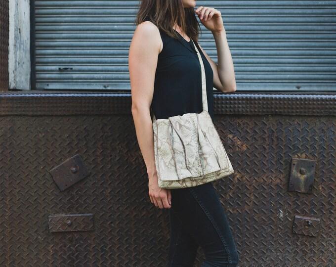 Snakeskin Handbag / Sharif Reptile Leather Shoulder Bag
