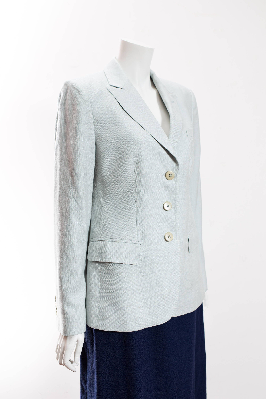 8aefc02a Women's Armani Blazer / Italian Light Blue Pastel Ladies Armani ...