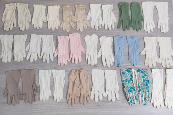 Vintage Gloves  - 10 Pairs of Evening Gloves / For